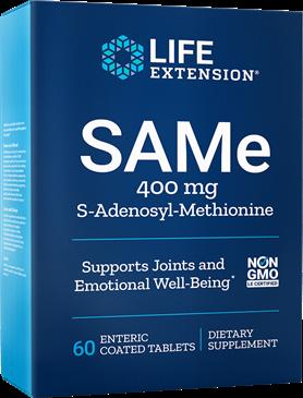 SAMe (S-adenosyl-methionine) 400 mg 30 tabs