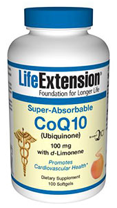 CoQ10, Super-Absorbable CoQ10 Ubiquinone with d-Limonene