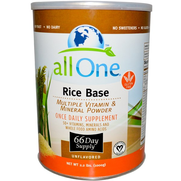 All One Powder Multi Vitamins & Minerals, Rice Based
